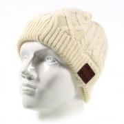 Kosso denim beanie knit hvid hue bluetooth Mobiltelefon tilbehør