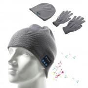 Kosso denim kombi hue bluetooth og touch handsker grå Mobiltelefon tilbehør