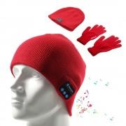 Kosso denim kombi hue bluetooth og touch handsker rød Leveso.dk Mobiltelefon tilbehør