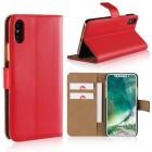 Iphone X flip cover i split læder rød Mobilcovers
