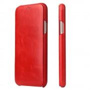 Slim luksus læder cover rød Iphone X Mobilcovers