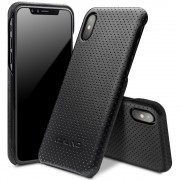 Iphone X cover mesh design ægte læder Mobilcovers