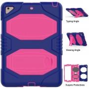 Ipad 9,7 2017-2018 blå/rosa hybrid cover Ipad og Tablet tilbehør