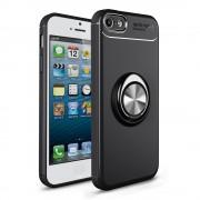 Cover med ring holder sort Iphone SE / 5S Mobil tilbehør