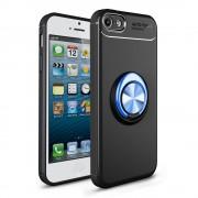 Cover med ring holder sort/blå Iphone SE / 5S Mobil tilbehør
