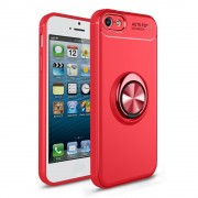 Cover med ring holder rød Iphone SE / 5S Mobil tilbehør