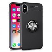 Cover med ring holder sort Iphone X Mobil tilbehør