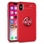 Cover med ring holder rød Iphone X Mobil tilbehør