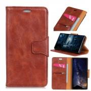 Elegant læder cover brun Iphone Xs Max Mobil tilbehør