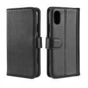 Iphone XR sort cover ægte læder Mobil tilbehør