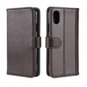 Iphone XR brun cover ægte læder Mobil tilbehør