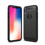 C-style armor cover sort Iphone XR Mobil tilbehør