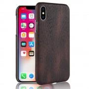Iphone X wood mønstret cover brun Mobil tilbehør
