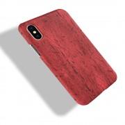 Iphone X wood mønstret cover rød Mobil tilbehør