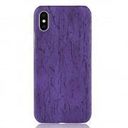 Iphone X wood mønstret cover lilla Mobil tilbehør