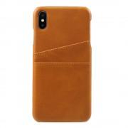 Iphone Xs Max bag cover m kortholdere brun Mobil tilbehør