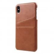 Iphone Xs Max bag cover m kortholdere mørkebrun Mobil tilbehør