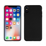 Iphone XS Max carbon tpu cover sort Mobil tilbehør