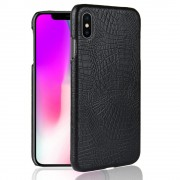 Iphone Xs Max cover case croco sort Mobil tilbehør