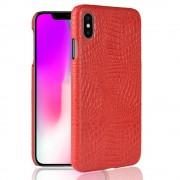 Iphone Xs Max cover case croco rød Mobil tilbehør