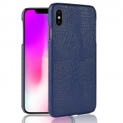 Iphone Xs Max cover case croco blå Mobil tilbehør