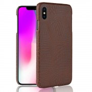 Iphone Xs Max cover case croco brun Mobil tilbehør