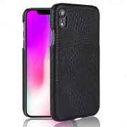 Iphone XR sort cover case croco Mobil tilbehør