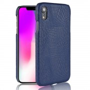 Iphone XR blå cover case croco Mobil tilbehør