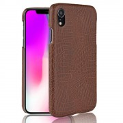 Iphone XR cover case croco brun Mobil tilbehør