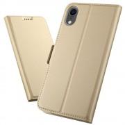 guld Slim flip cover Iphone XR Mobil tilbehør