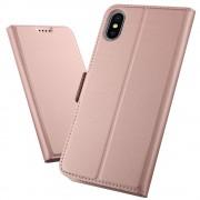 Iphone Xs Max rosaguld slim flip cover Mobil tilbehør