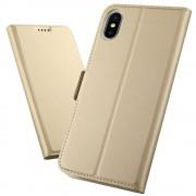Iphone Xs Max slim flip cover guld Mobil tilbehør