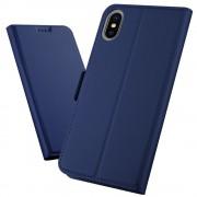 Iphone Xs Max slim flip cover blå Mobil tilbehør