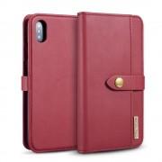 2 i 1 cover rød ægte læder Iphone XS Max Mobil tilbehør