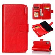 rød Cover med multi lommer Iphone XS Max Mobil tilbehør