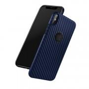 blå Carbon tpu cover Iphone Xs / X Mobil tilbehør