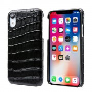 sort Skind case croco Iphone Xr Mobil tilbehør