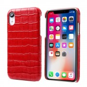 rød Skind case croco Iphone Xr Mobil tilbehør