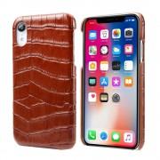 brun Skind case croco Iphone Xr Mobil tilbehør