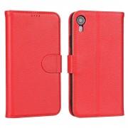 rød Premium læder cover Iphone Xr Mobil tilbehør