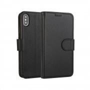 sort Premium læder cover Iphone XS Max Mobil tilbehør