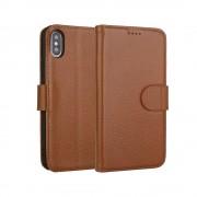 brun Premium læder cover Iphone XS Max Mobil tilbehør