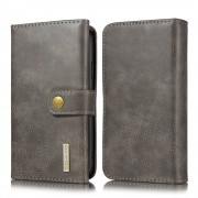 grå Læder pung cover 2 i 1 Iphone 11 Mobil tilbehør