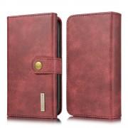 rød Læder pung cover 2 i 1 Iphone 11 Mobil tilbehør