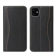 sort Premium læder etui Iphone 11 Pro Max Mobil tilbehør