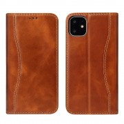 brun Premium læder etui Iphone 11 Pro Max Mobil tilbehør