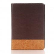IPAD PRO 9,7 mønstret læder cover mørkebrun Leveso.dk