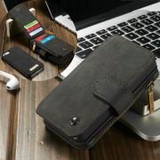 Til IPHONE SE cover pung læder sort Mobiltelefon tilbehør