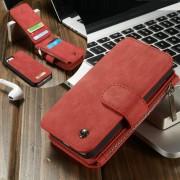 IPHONE SE cover pung læder rød Mobiltelefon tilbehør