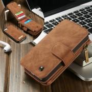 IPHONE SE cover pung læder brun Mobil tilbehør
